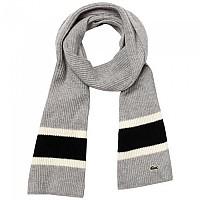 [해외]라코스테 Contrast Striped Ribbed Wool Silver Chine / Black Fluor