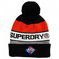 [해외]슈퍼드라이 Trophy Beanie Black / Hazard Orange