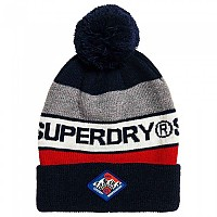 [해외]슈퍼드라이 Trophy Beanie Dark Navy / Red