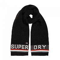 [해외]슈퍼드라이 Super S.D. Logo Scarf Black Twist / Burnt Orange