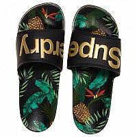[해외]슈퍼드라이 Beach Slide Black / Pineapple Aop