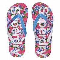 [해외]슈퍼드라이 All Over Print Flip Flop Optic / Air Blue / Fluro Pink
