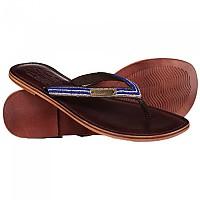 [해외]슈퍼드라이 Core Toe Post Sandal Dark Brown / Navy & Silver Beads