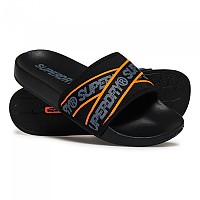 [해외]슈퍼드라이 City Beach Slide Black / Charcoal / Hazard Orange