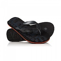 [해외]슈퍼드라이 Scuba Flip Flop Black / Black / Hazard Orange