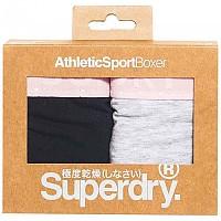 [해외]슈퍼드라이 Athletic Sport Boxer Double Pack Navy / Grey Marl