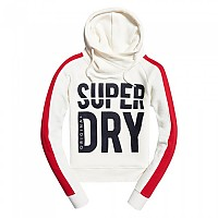 [해외]슈퍼드라이 Dimension Panel Sport Crop Hood Off White