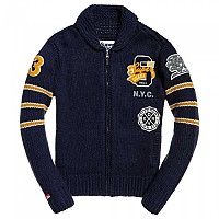 [해외]슈퍼드라이 Carter College Cardigan Dark Navy