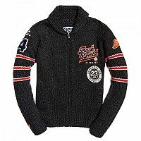 [해외]슈퍼드라이 Carter College Cardigan Dark Charcoal