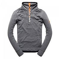 [해외]슈퍼드라이 Gym Sport Runner Zip Henley Grey Grit