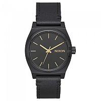[해외]닉슨 Medium Time Teller Leather All Black