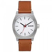[해외]닉슨 Medium Time Teller Leather White / Saddle