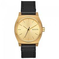 [해외]닉슨 Medium Time Teller Leather Gold / Black