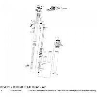 [해외]ROCKSHOX Tube IFP Reverb/Reverb Stealth Gold