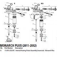 [해외]락샥 Internal Floating Piston Monarch Plus Kit