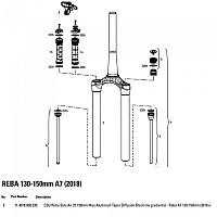 [해외]ROCKSHOX Reba Solo Air 130-150 mm Diffusion Black