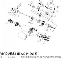 [해외]ROCKSHOX Vivid Air 14-18 B1 Maintenance Complet Kit