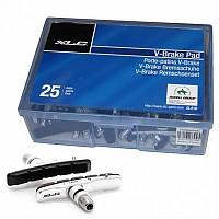 [해외]XLC Cartridge V Brake Shoes BS V02 25 Pairs Silver / Black