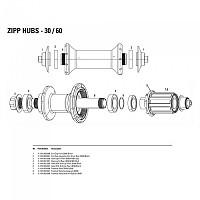 [해외]ZIPP End Cap Assembly Non Drive Rear 30/60 Black