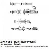 [해외]ZIPP Bearing Shield For 88/188 Disc Brake Hubs Grey