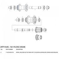 [해외]ZIPP 176 Centerlock Disc Brake Rear Hub End Cap Set Black