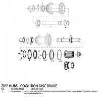 [해외]ZIPP End Caps For Cognition Disc Rear Hubs Campagnolo Black