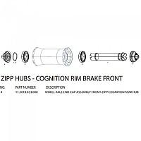 [해외]ZIPP End Caps For Cognition Front Hubs Black