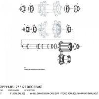 [해외]ZIPP 177Disc Rear Black