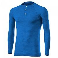 [해외]SIXS V-Neck Buttons Merinos Wool Blue