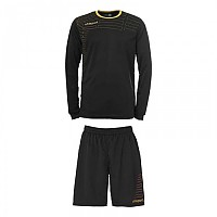[해외]울스포츠 Match Team Kit Shirt&Shorts Ls Black / Gold