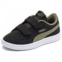 [해외]푸마 Smash V2 Buck Velcro PS Puma Black / Burnt Olive / Puma White