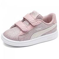 [해외]푸마 Smash V2 Glitz Glamour Velcro Infant Bridal Rose / Pastel Parchment / Puma Silver / Puma White