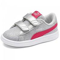 [해외]푸마 Smash V2 Glitz Glamour Velcro Infant Puma Silver / Nrgy Rose / Gray Violet