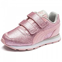 [해외]푸마 Vista Glitz Velcro PS Bridal Rose / Gray Violet / Puma White