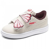 [해외]푸마 Smash V2 Butterfly Velcro Infant Pastel Parchment / Vineyard Wine / Calypso Coral