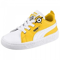 [해외]푸마 SELECT Minions Basket BS AC Infant Puma White / Puma Black / Dandelion