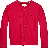 [해외]타미힐피거 KIDS M Ruffle Cardigan Virtual Pink