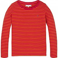 [해외]타미힐피거 KIDS Iconic Stripe Rib Virtual Pink / Russet Orange