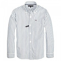 [해외]타미힐피거 KIDS Oxford Stripe Bright White / Saxony Blue