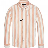 [해외]타미힐피거 KIDS Oxford Stripe Bright White / Russet Orange