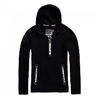 [해외]슈퍼드라이 Gym Tech Half Zip Hood Black