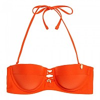 [해외]슈퍼드라이 Sophia Textured Cup Bikini Top Flamingo Orange