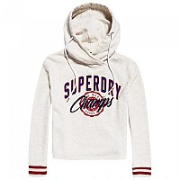 [해외]슈퍼드라이 Real Champs College Crop Hood Oatmeal Marl