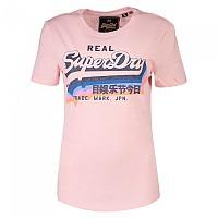 [해외]슈퍼드라이 Vintage Logo Rainbow Shadow Shell Pink Slub