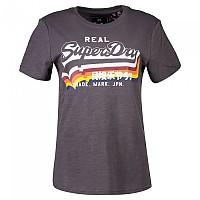 [해외]슈퍼드라이 Vintage Logo Rainbow Shadow Slate Slub
