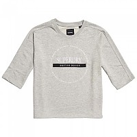 [해외]슈퍼드라이 Oversized Scandi Graphic Grey Marl