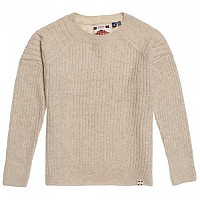 [해외]슈퍼드라이 Aimee Rib Jumper Neutral Marl