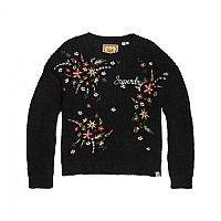 [해외]슈퍼드라이 Off Beat Rodeo Handcraft Knit Black