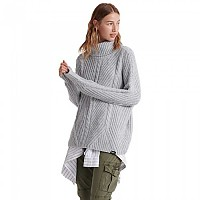 [해외]슈퍼드라이 Tori Cable Cape Knit Grey Marl