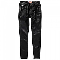 [해외]슈퍼드라이 Sophia Coated Skinny Waxed Black